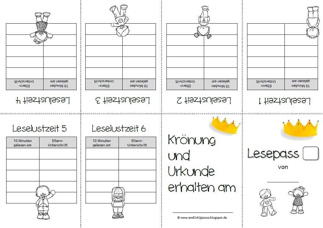 Lesepass A Lesen Lesen Lernen Unterrichtsmaterial Grundschule
