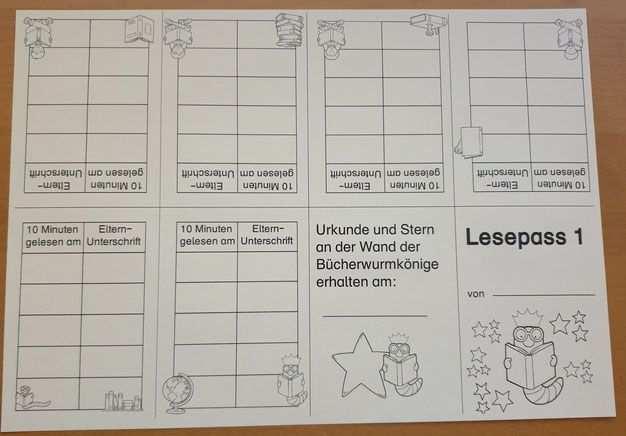 Der Lesepass Lesen Deutsch Lesen Deutsche Schule