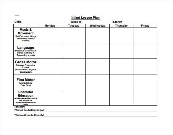 Preschool Lesson Plan Template Check More At Https