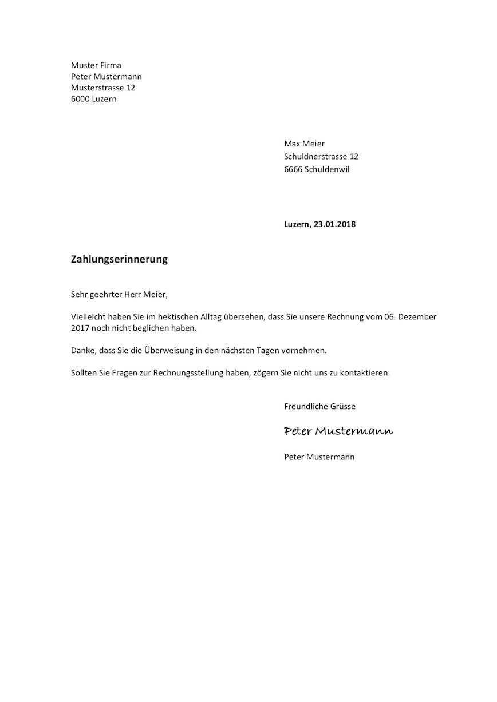 Mahnung Vorlage Schweiz Word Gutschein Vorlage Absage