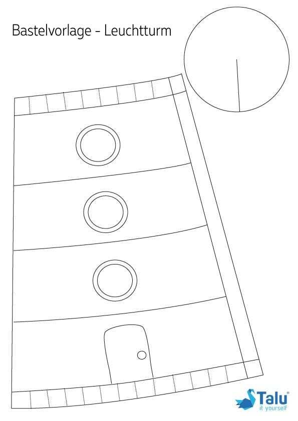 Leuchtturm Basteln Kostenlose Anleitung Zum Selber Bauen