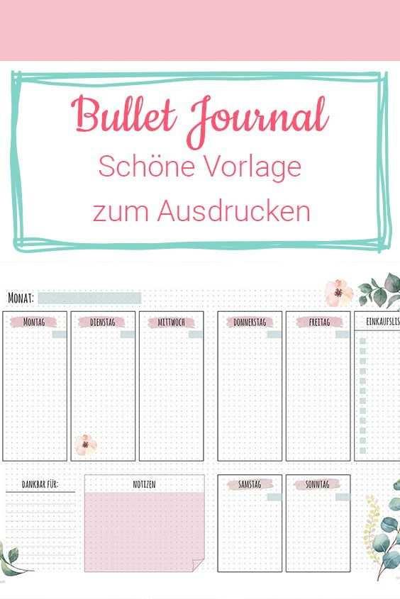 Kostenlose Bullet Journal Vorlage Und 3 Grunde Sie Auszuprobieren