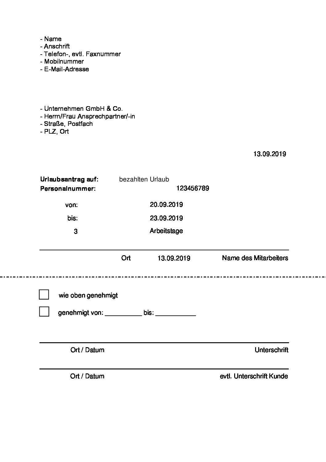 Vordruck Urlaubsantrag Pdf Kostenlos لم يسبق له مثيل الصور Tier3 Xyz
