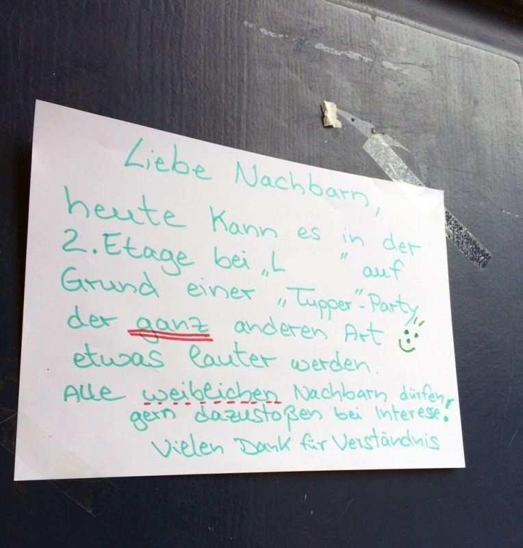 Partystadt Berlin Tupperparty Nachbarn Lustige Spruche Witze