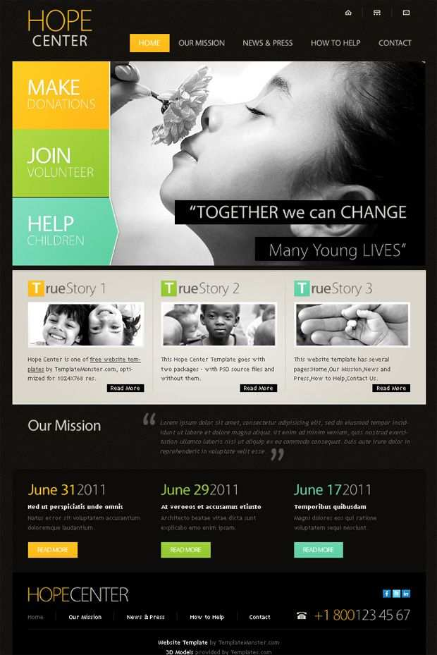 Free Website Template With Typography And Jquery Slider Free