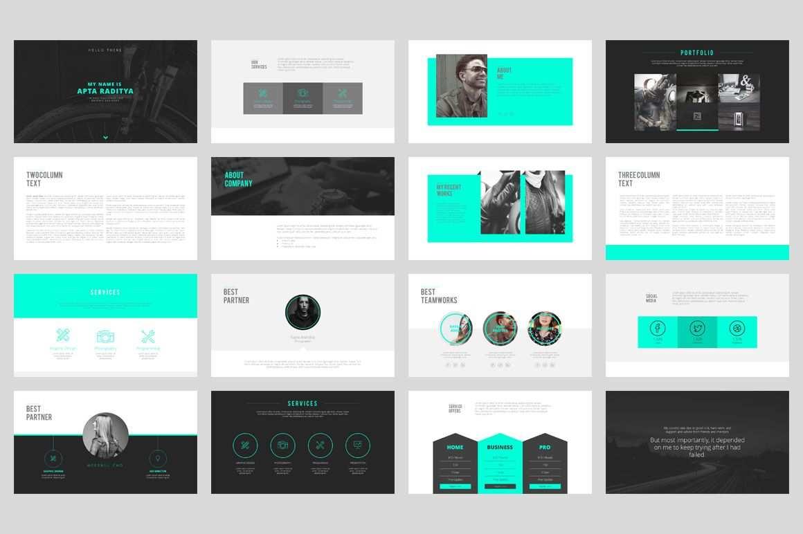 Portfolio Powerpoint Template Design De Apresentacao Design