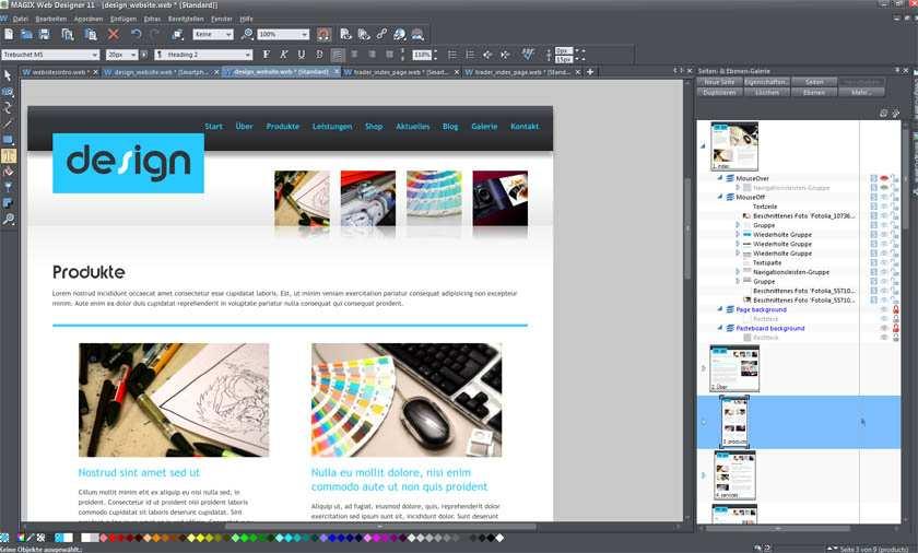 Firmenwebsites Erstellen Mit Magix Webdesigner 11