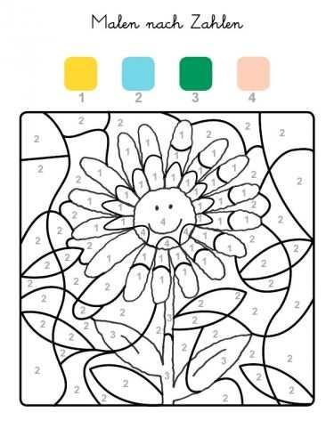 Malen Nach Zahlen Sonnenblume Ausmalen Zum Ausmalen Mit Bildern