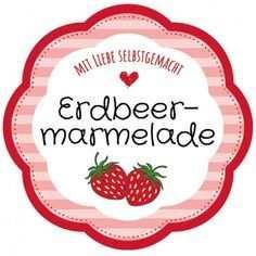 Gratis Vorlage Etikett Blumenform Erdbeermarmelade Selbstgemacht Mit Bildern Marmeladenetiketten Marmeladen Etikett Etiketten Gestalten