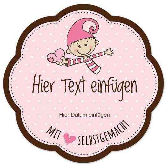 Kostenlose Vorlage Etikett Blumenform Selbstgemacht Baby Marmeladenetiketten Marmeladen Etikett Etiketten Gestalten