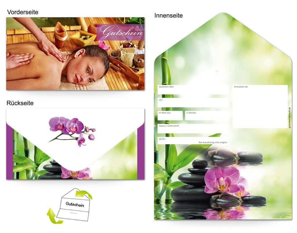 Gutschein Massage Wellness Orchidee Gutschein Vorlage