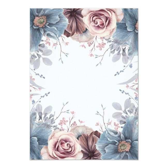 Create Your Own Invitation Zazzle Com Floral Watercolor