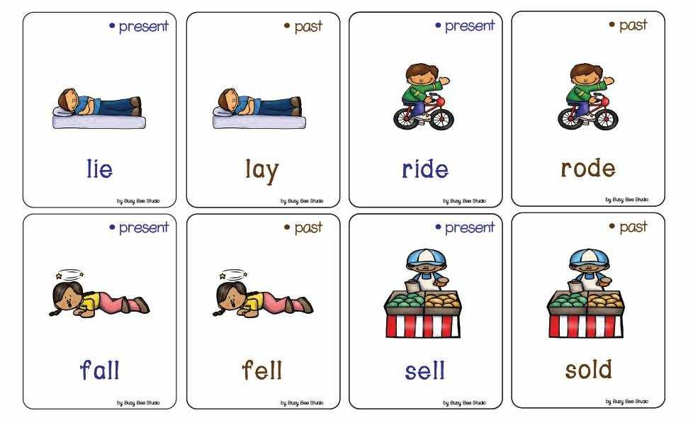 Irregular Past Tense Verbs Memory Game Verbs Activities