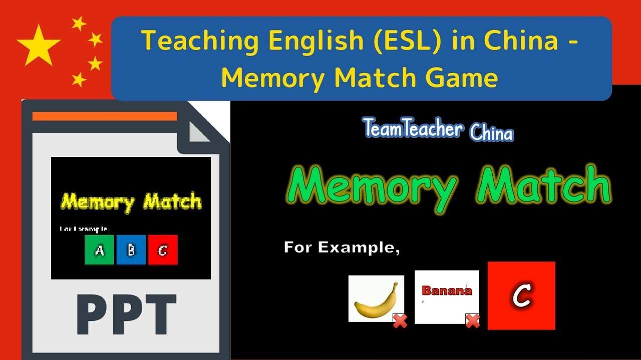Memory Match Powerpoint Ppt Game Tutorial Youtube