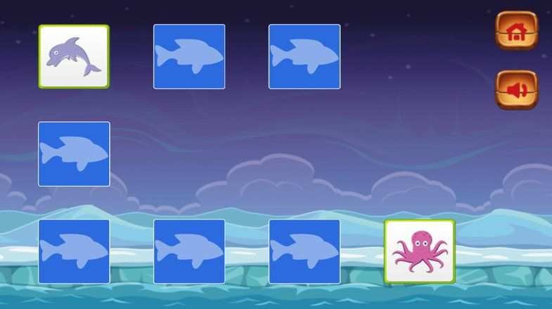 Kids Memory Game Sea Creatures Sponsored Templates Game Memory