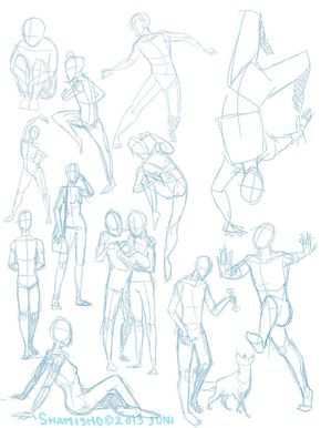 Practise Poses 3 By Shamisho Art Reference Poses Human Base Drawing Drawing Reference Poses