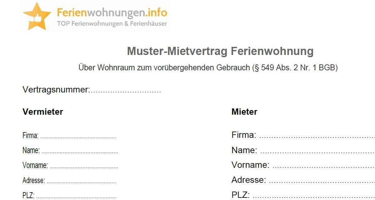Downloads Fur Vermieter Von Ferienwohnungen Ferienwohnungen Info