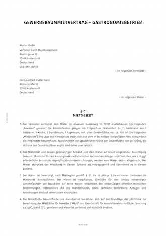 Mietvertrag Fur Gastronomie Raume Erstellen Smartlaw