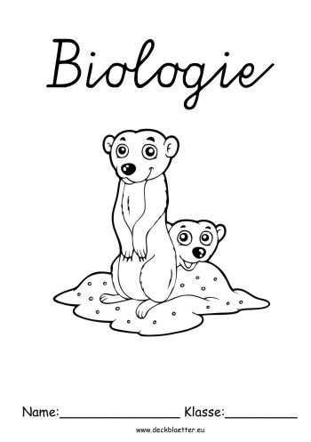 Biologie Deckblatt Zum Ausdrucken Schulbeginn Ersterschultag