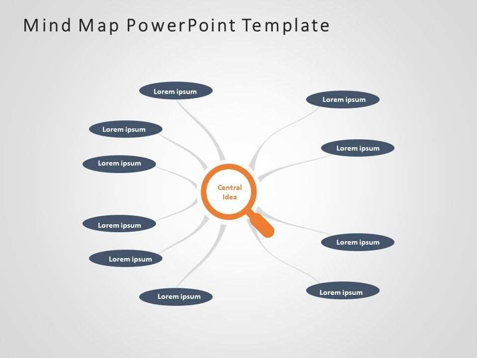Mind Map Powerpoint Template 4 Mit Bildern Powerpoint Vorlagen