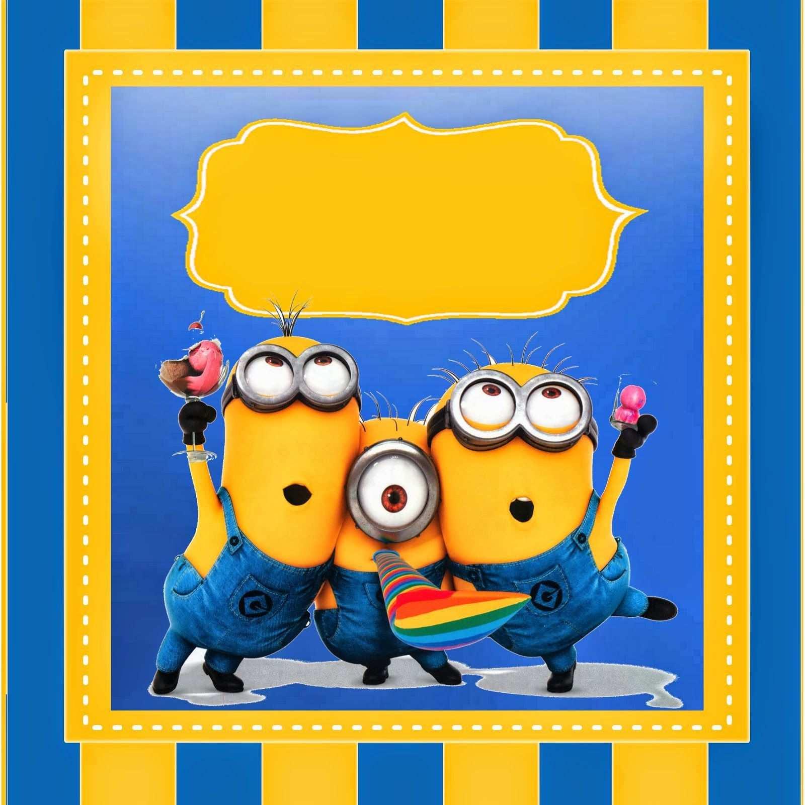 Einladungskarten Minions Vorlage Minions Geburtstag