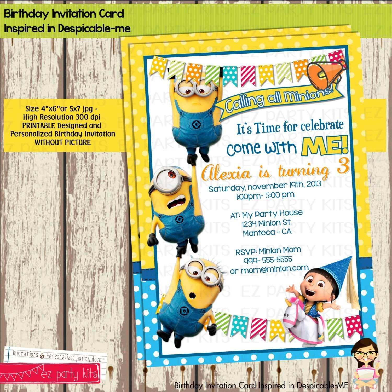 Minions Geburtstagseinladung Zum Ausdrucken