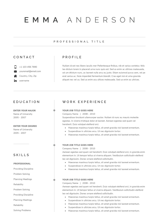 Saubere Moderne Lebenslauf Vorlage 4 Seite Cv Vorlage Etsy