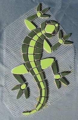 Mosaik Salamander Mosaik Mosaik Muster Steine Mosaik