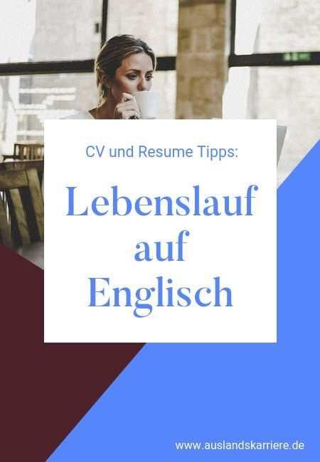 Englische Bewerbung Muster Cv Cover Letter Und Leitfaden In