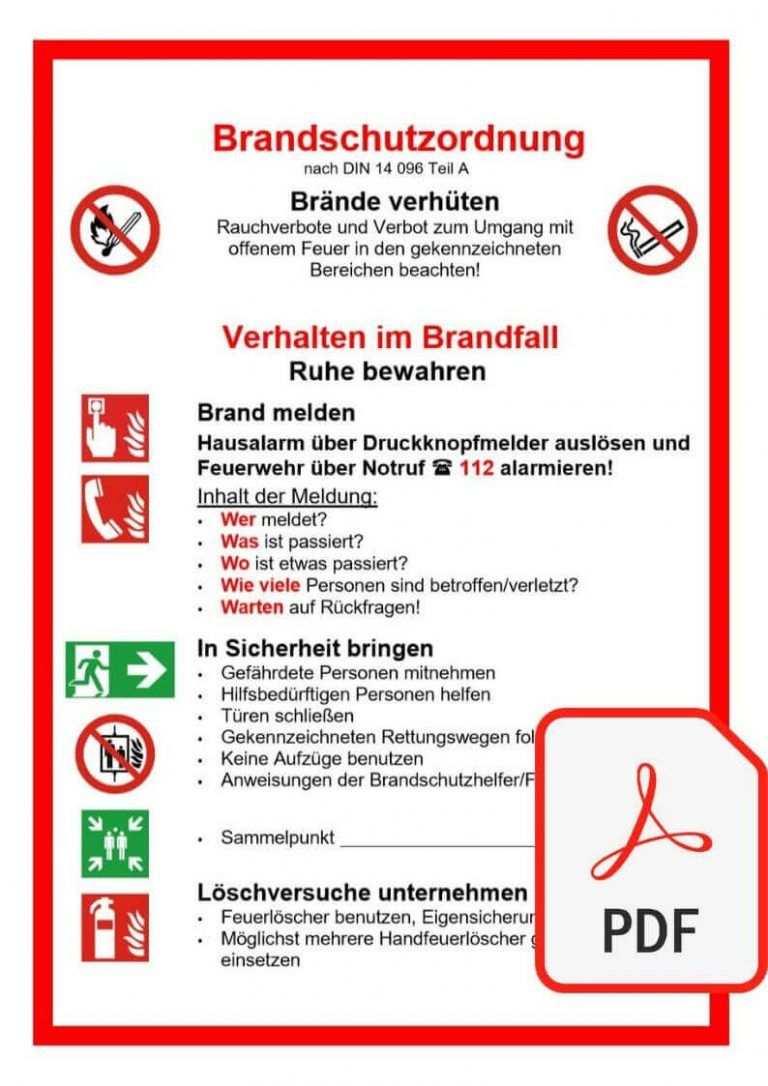 Soi Brandschutzordnung News Arbeitssicherheit