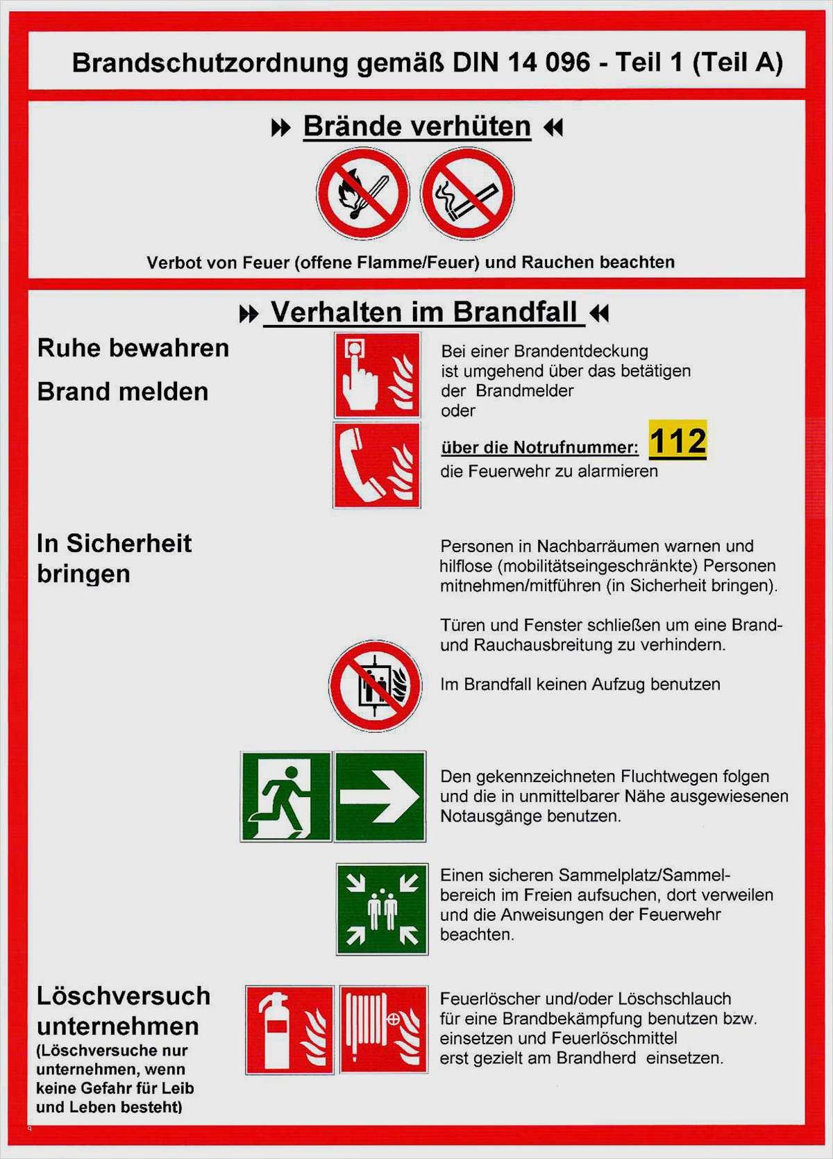 Brandschutzordnung Teil A Vorlage 14 Elegant Sie Konnen Adaptieren