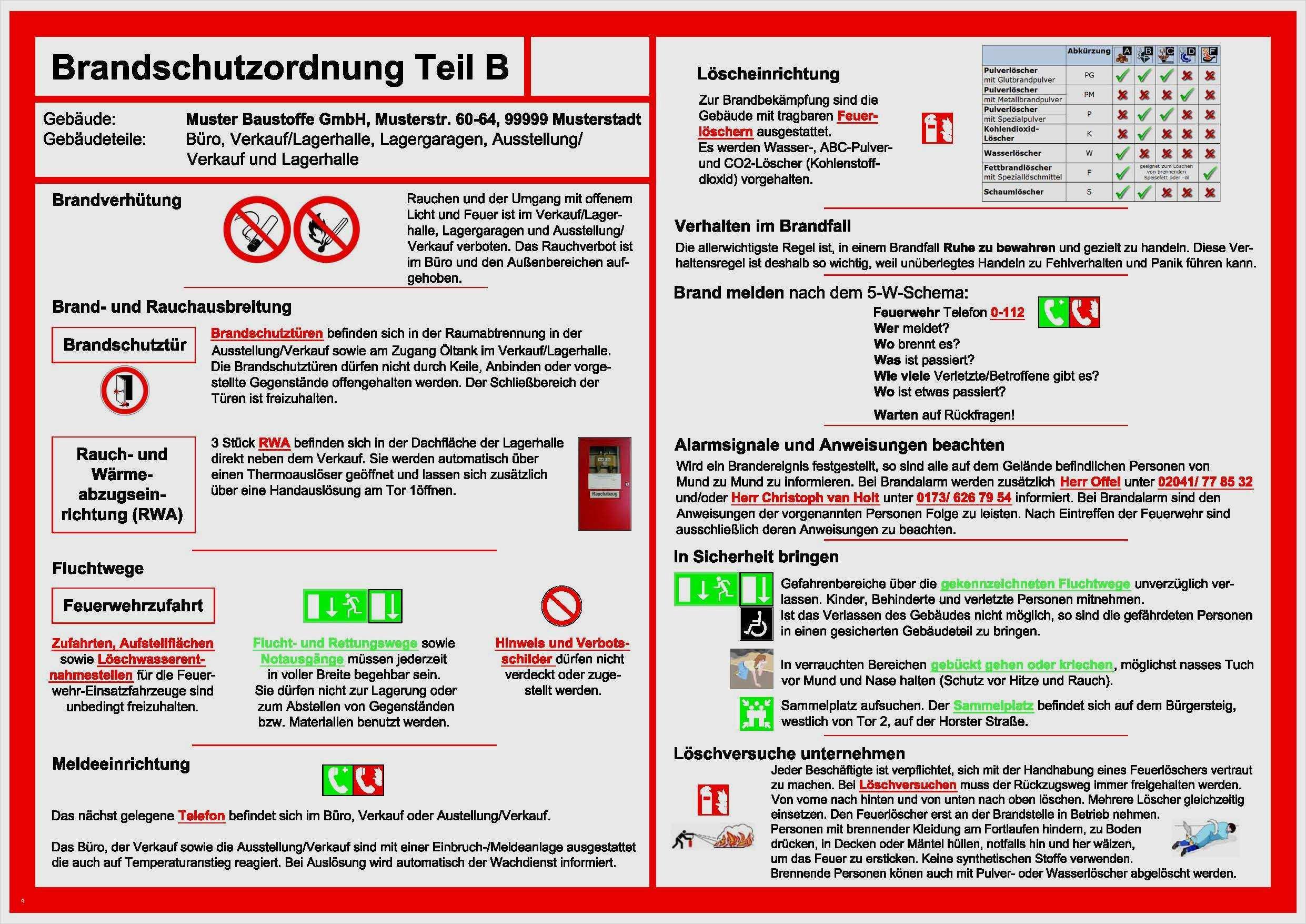 Brandschutzordnung Vorlage Word 15 Einzigartig Solche Konnen