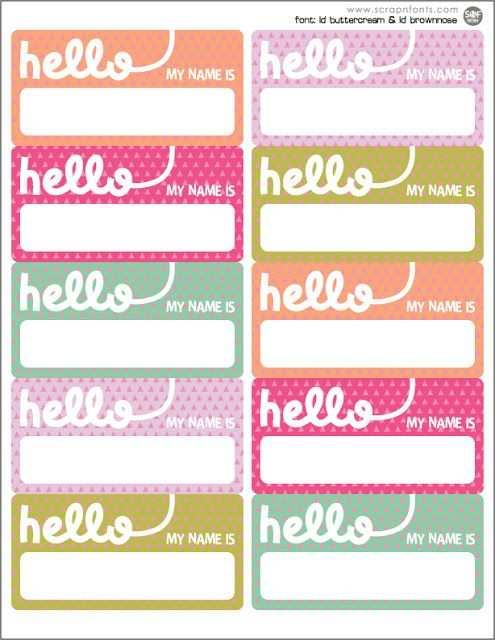 Freebie Friday Hello Name Tags Namensschilder Etiketten Filofax