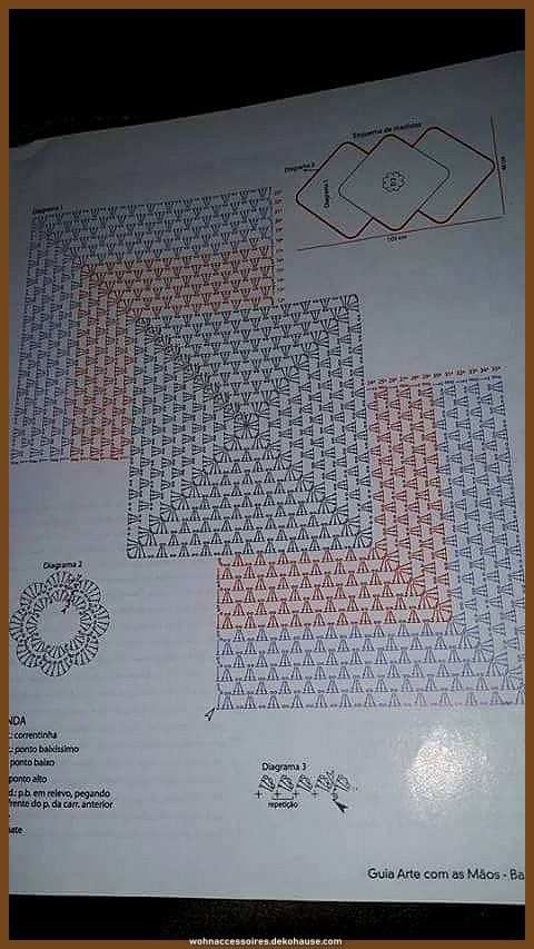 Diagramm Und Inspiration Des Granny Square Runner Musters In 2020
