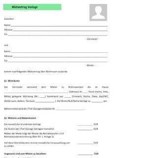 Mietvertrag Vorlage Vorlagen Lebenslauf Muster Lebenslauf
