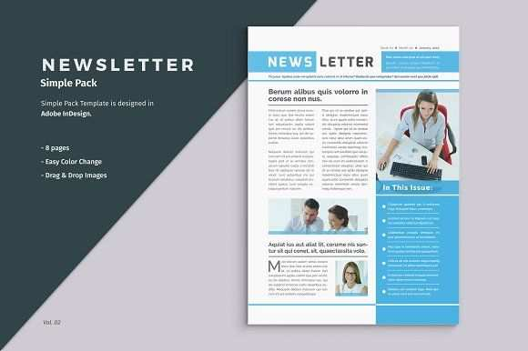 Business Newsletter Template Free Brochure Template Free