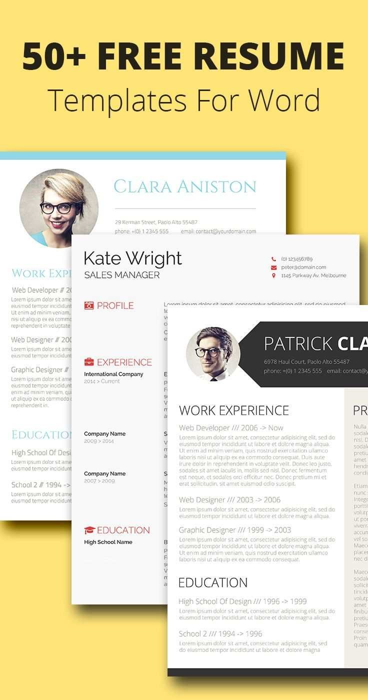 150 Free Resume Templates For Word Downloadable Mit Bildern