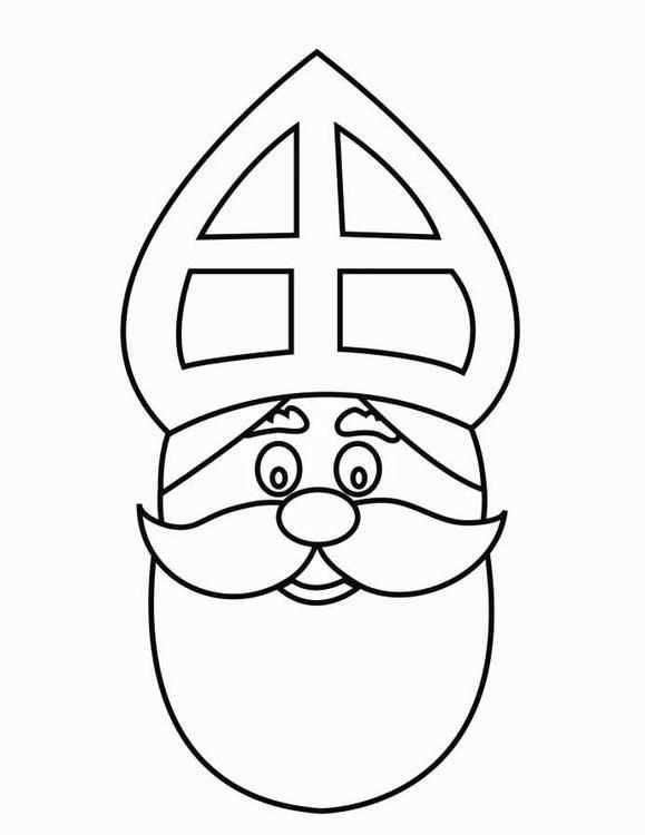 Malvorlage Gesicht Vom Nikolaus Bilder Fur Schule Und Unterricht