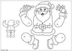 Basteln Weihnachtsmann Hampelmann Basteln Fur Kinder 28195