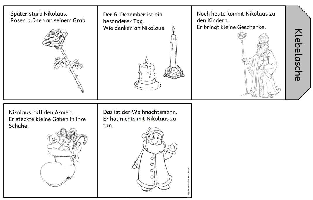 Nikolausleporello Varianten Nikolaus Geschichte Nikolaus
