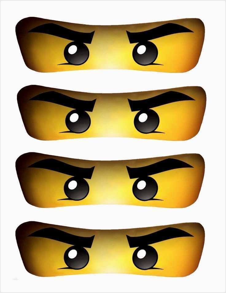 Ninjago Augen Vorlage Wunderbar White Ninja Eyes Instant