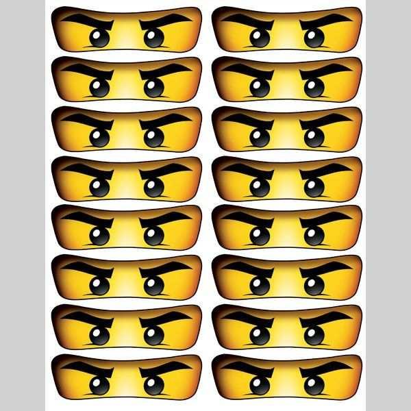Free Printable Ninjago Eyes Ninja Geburtstag Lego Geburtstag
