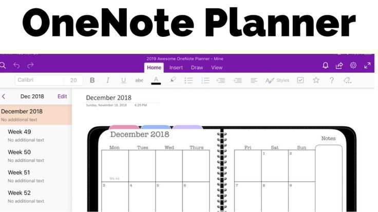A Closer Look At The Digital Awesome Planner For Onenote For Those
