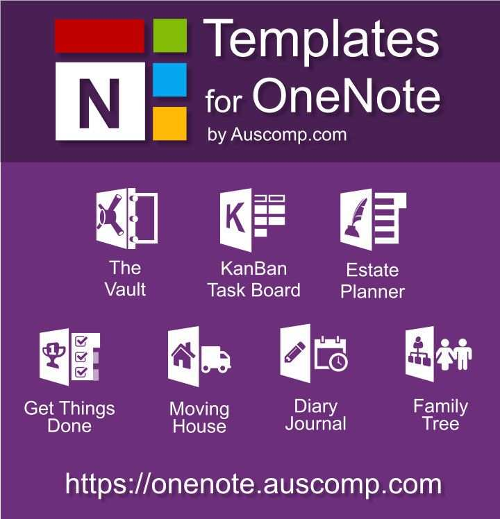 Medley Of Free Templates For Ms Onenote The Vault Kanban Task