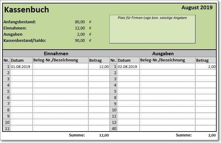 Excel Template Cash Book The Free Excel Template Cash Book Helps