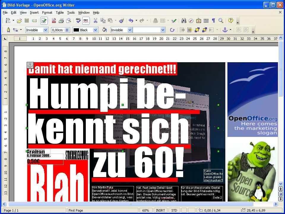 Openoffice Vorlage Bild Layout Download Chip