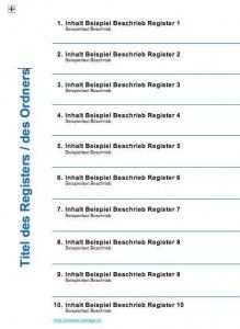 Ordnerregister Vorlage Deckblatt Ordner Register Ordner Vorlagen