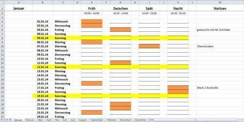 Dienstplan In Excel Erstellen Eine Kurzanleitung Dienstplan