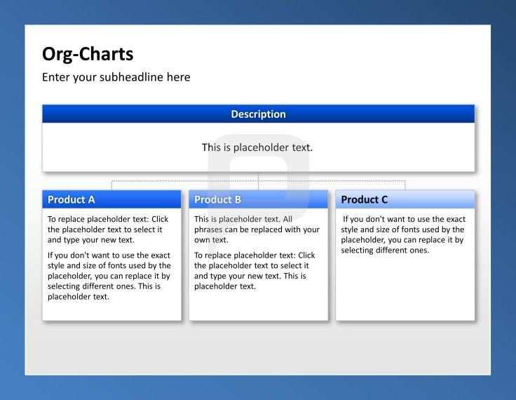 Powerpoint Organigramme Ubersicht Der Unternehmensstruktur Mit