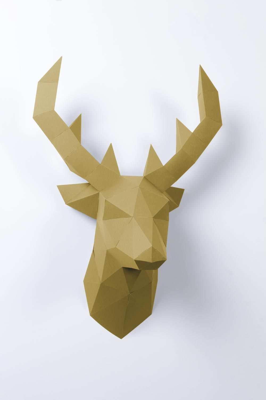 3d Papier Hirsch Origami Kunst Basteln Mit Papier Origami
